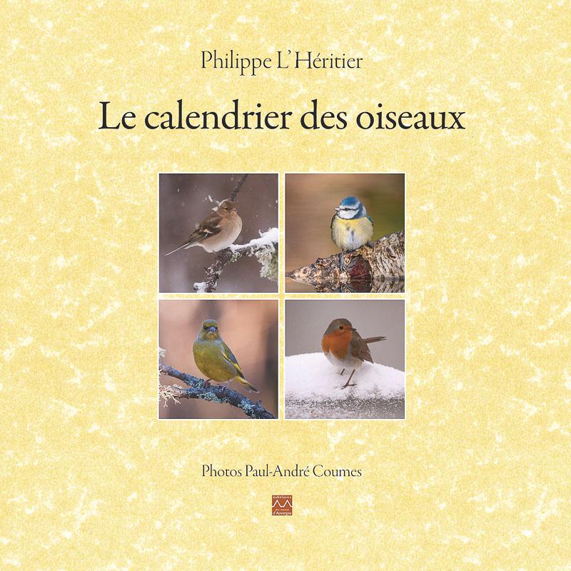 livre calendrier oiseaux de Paul André COUMES et Philippe L'Héritier.